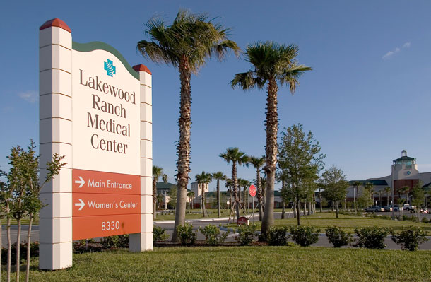 Entrada principal de Lakewood Ranch Medical Center
